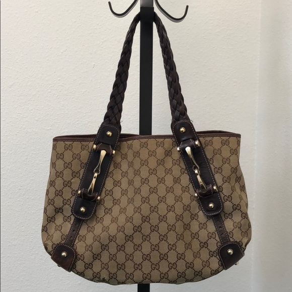 587e42954 Gucci Bags | Monogram Canvas Pelham Medium Shoulder Bag | Poshmark